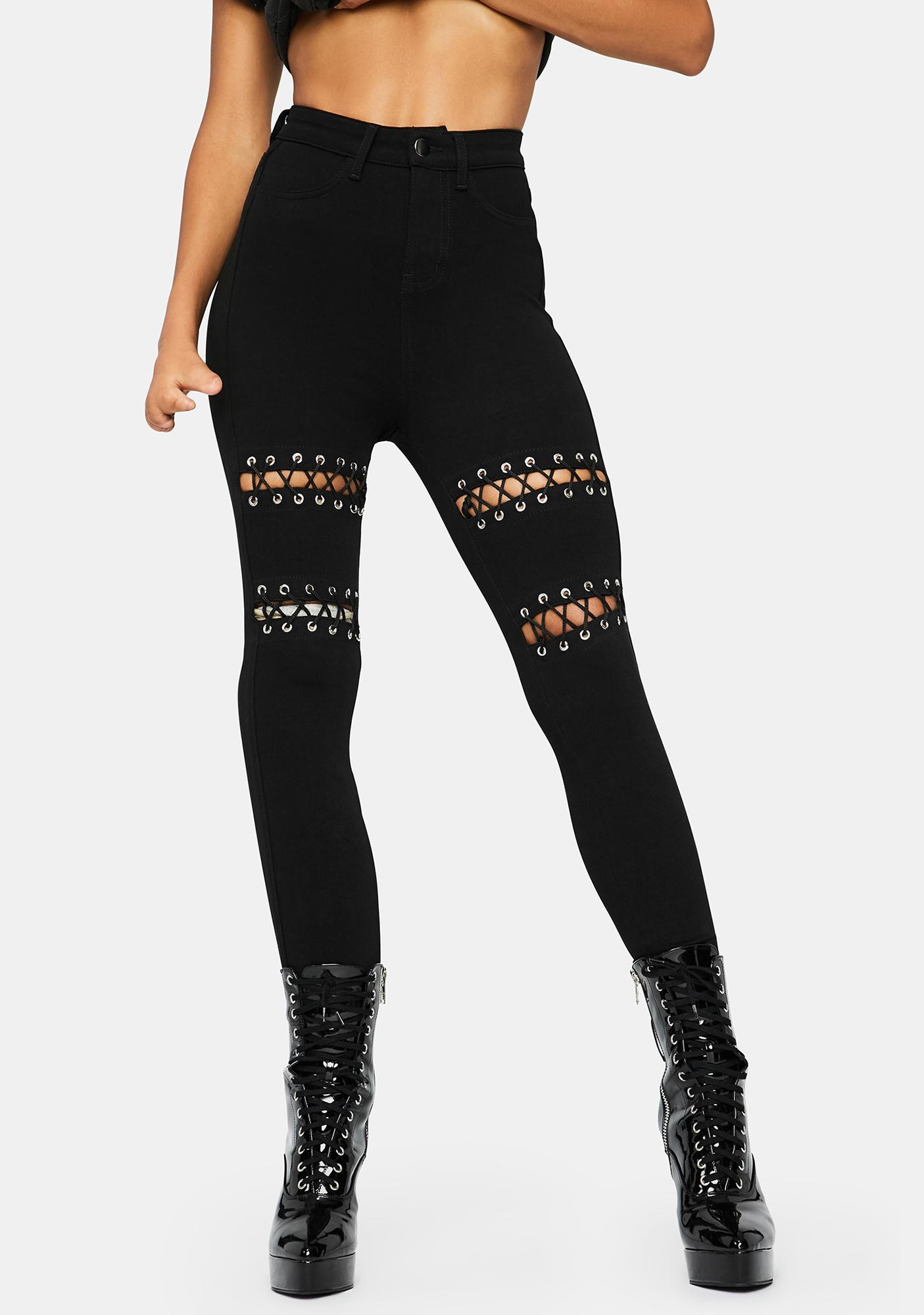 Rocker Grunge Stretch Jeans