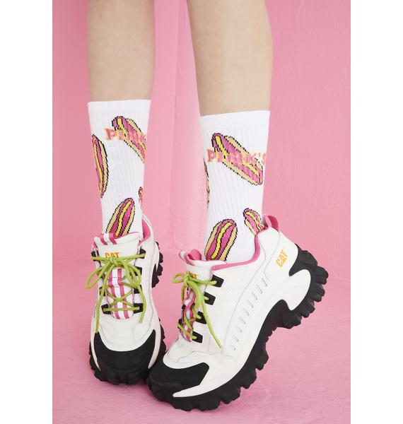 Petals and Peacocks X Pink's Hot Dogs Crew Socks