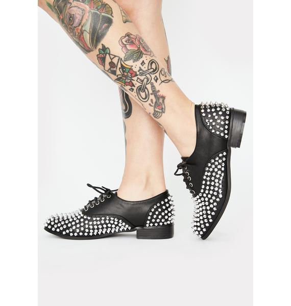 Dark State Of Mind Studded Oxfords