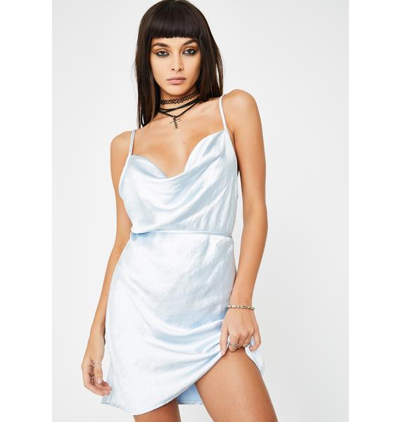 Motel Powder Blue Paiva Mini Dress