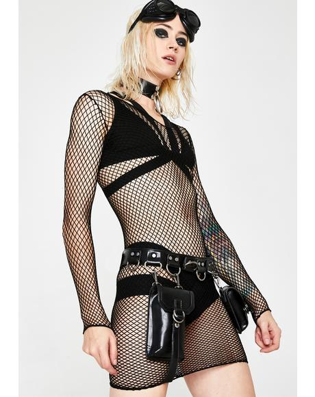 Eternal Nox Fishnet Dress