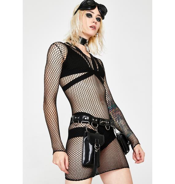 Eternal Nox Fishnet Dress