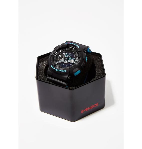 G-Shock Black With Blue Watch