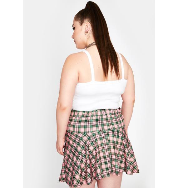 NEW GIRL ORDER Curve Check Mini Skirt