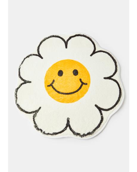 Happy As Can Be Flower Rug