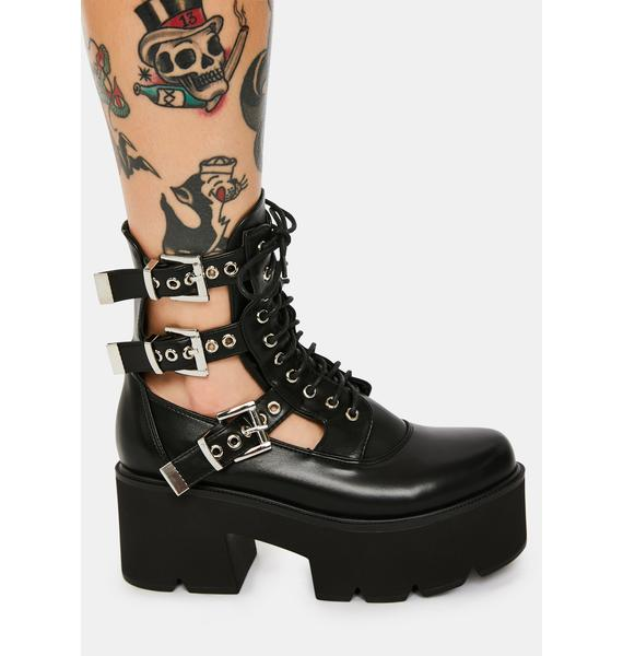 Lamoda Get Gone Buckle Platform Boots