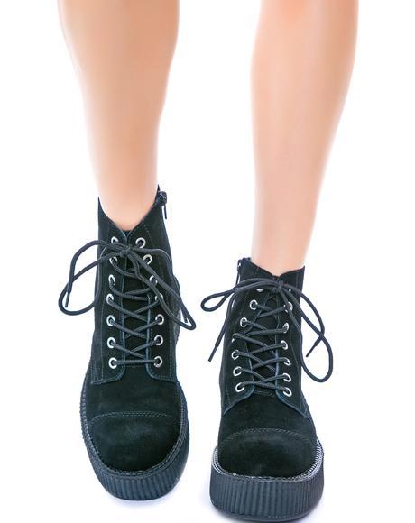 Suede 7 Eye Mondo Creeper Boots