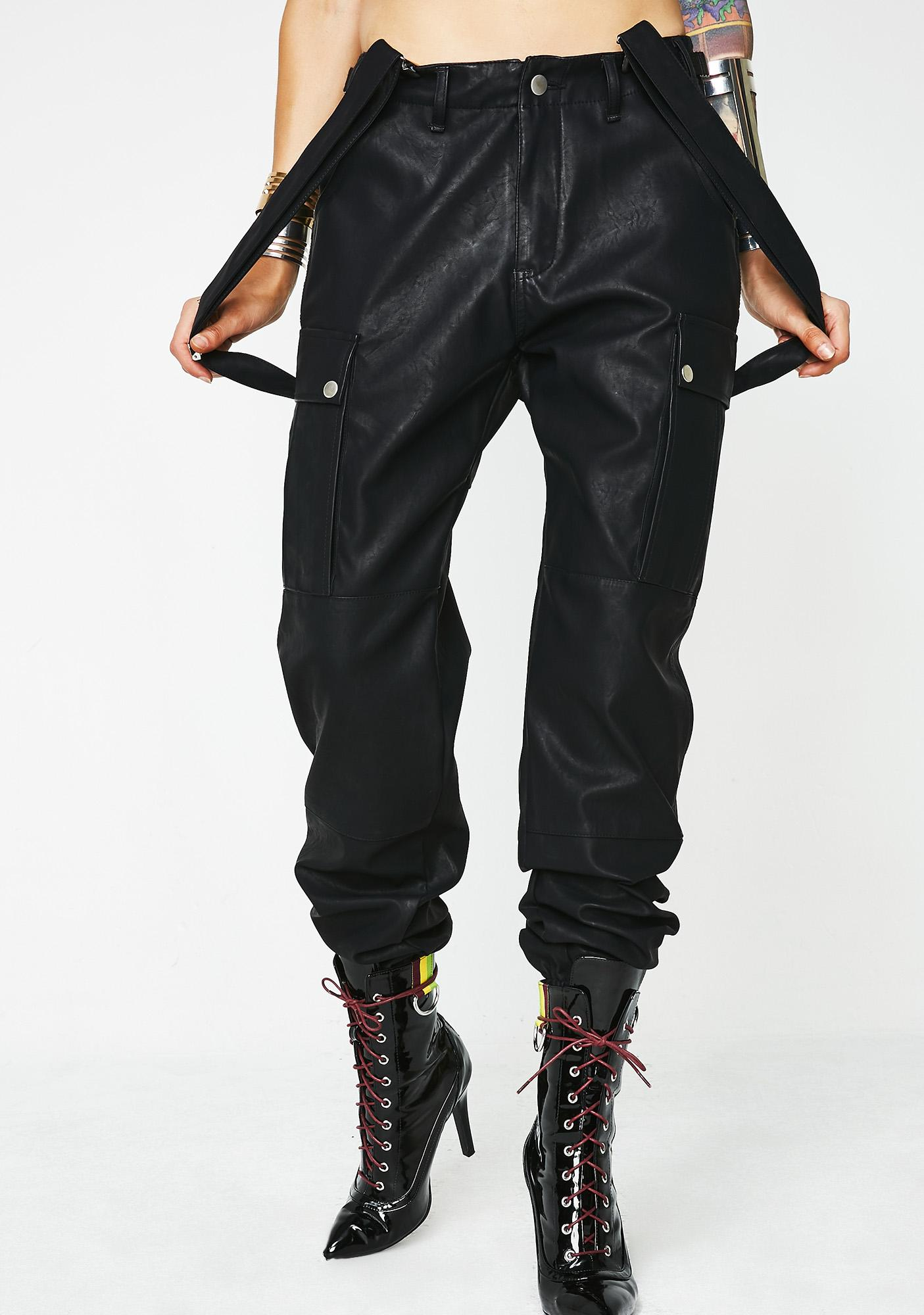 Poster Grl Most Official Babe Suspender Cargo Pants