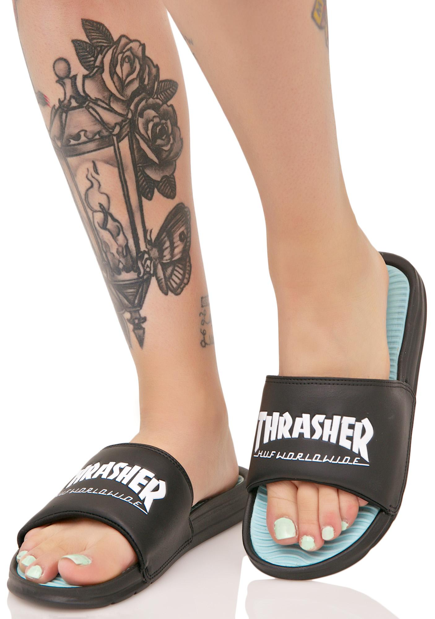 HUF X Thrasher Tour De Stoops Slides