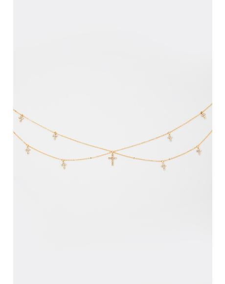Unmatched Devotion Cross Necklace