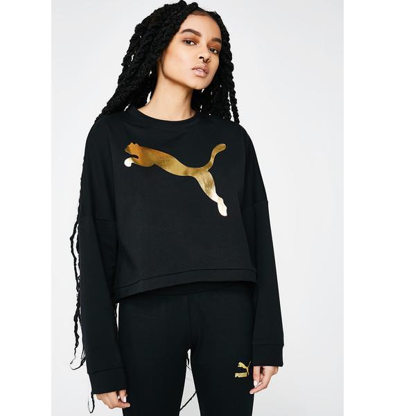 PUMA Rebel Cropped Crew Sweater