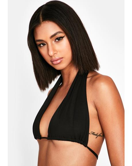 Model Behavior Halter Bra