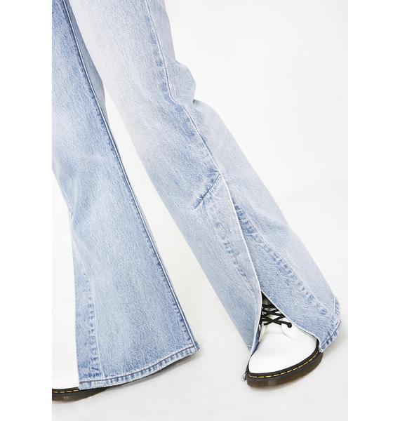 Levis Ribcage Split Flare Jeans