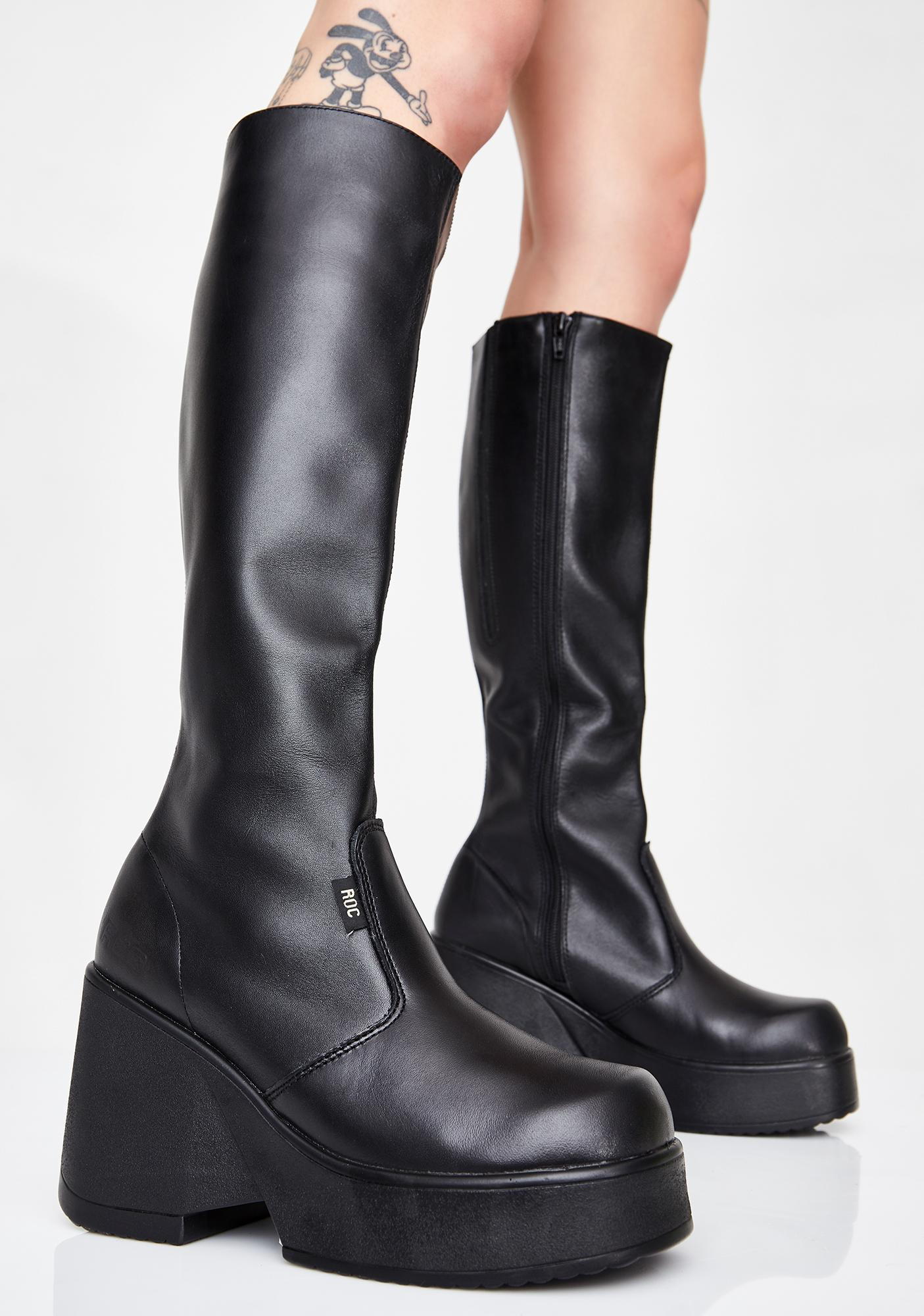 90b4ab89a50 ROC Boots Australia Pharaoh Wedge Boots | Dolls Kill