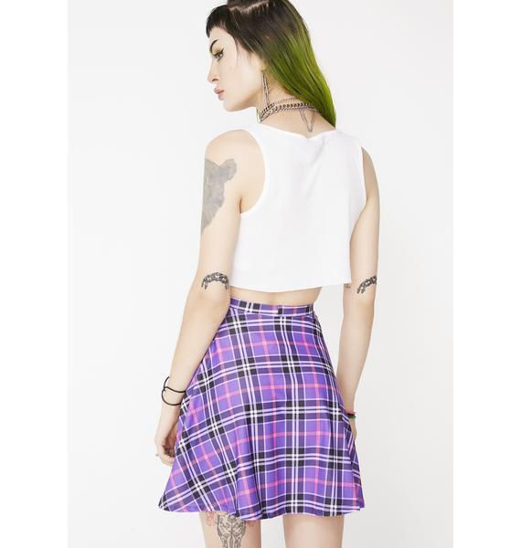 Disco Hunnys Sunday Schoolz Plaid Skirt