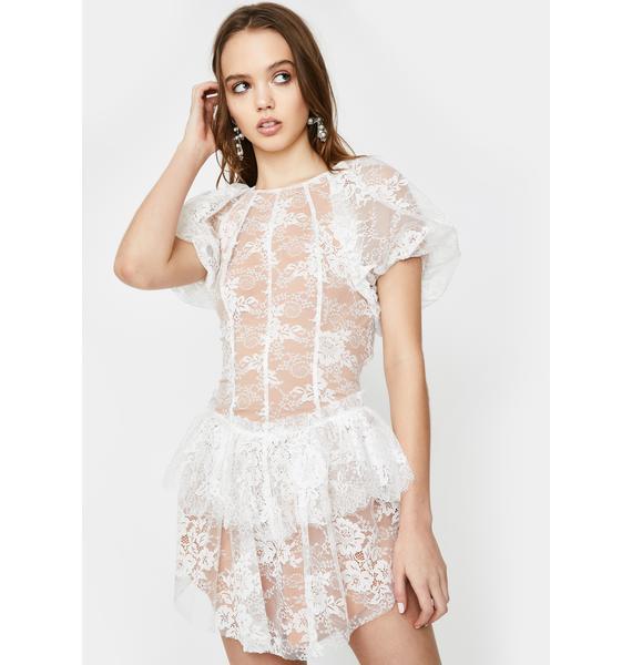 For Love & Lemons Verbena Lace Mini Dress
