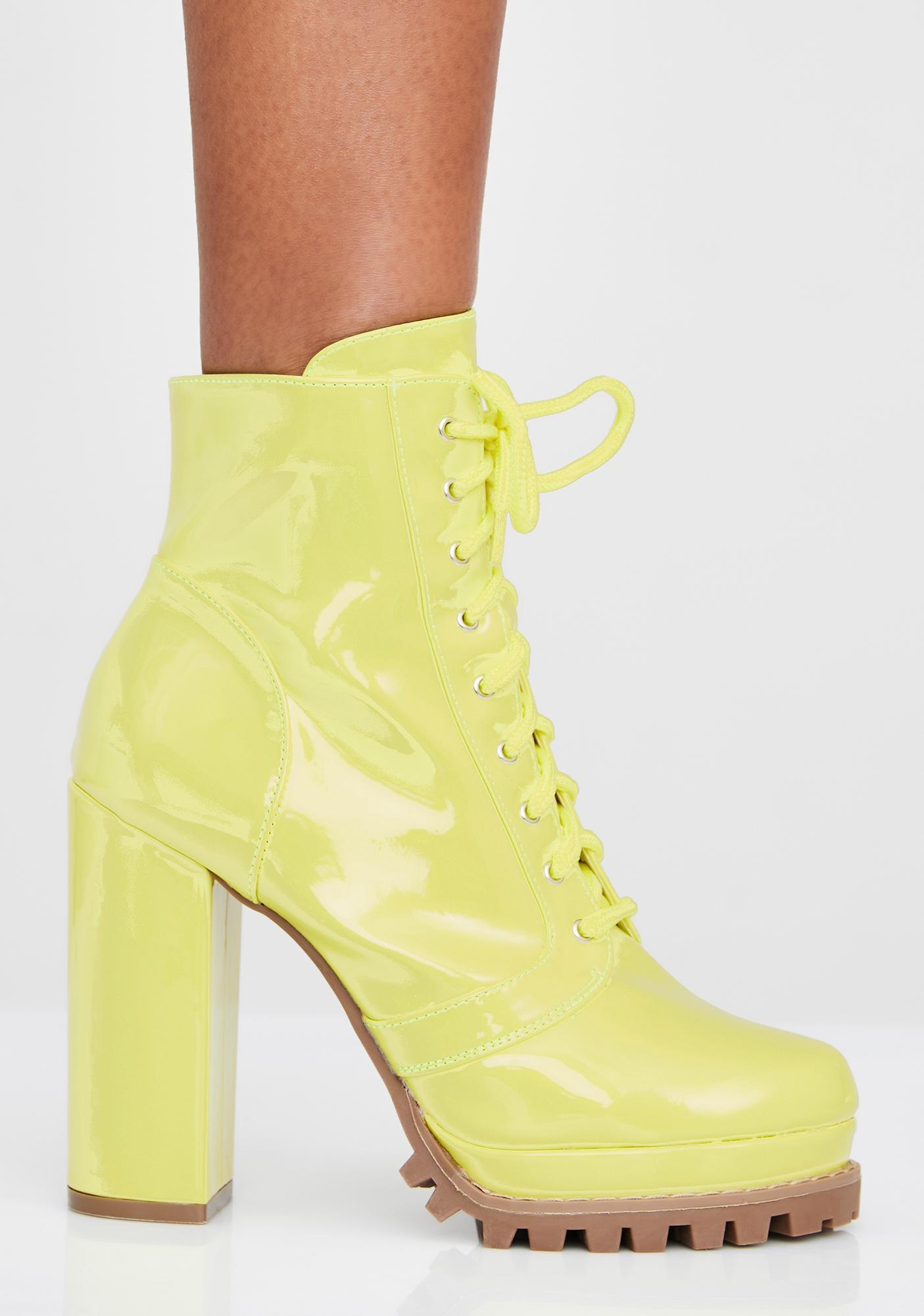 Bodak Big Girl Crush Lace Up Boots