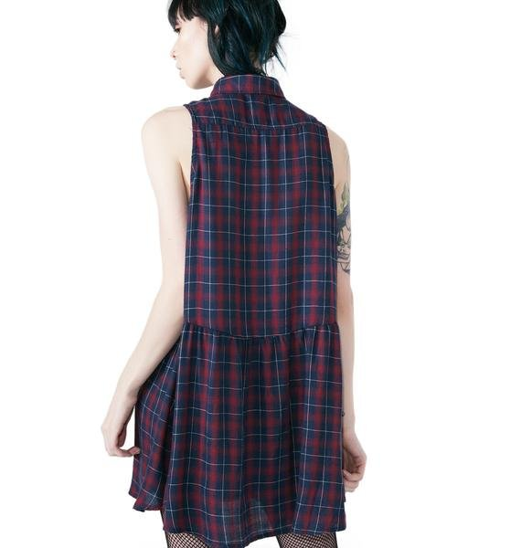 Catalano Plaid Shirt Dress