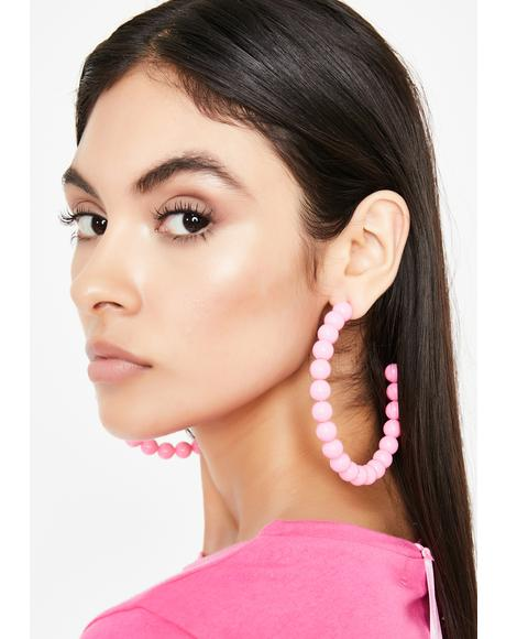 Hot Gossip Hoop Earrings