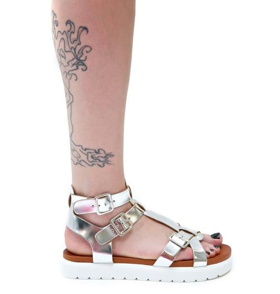 Vagabond Metallic Gladiator Sandals