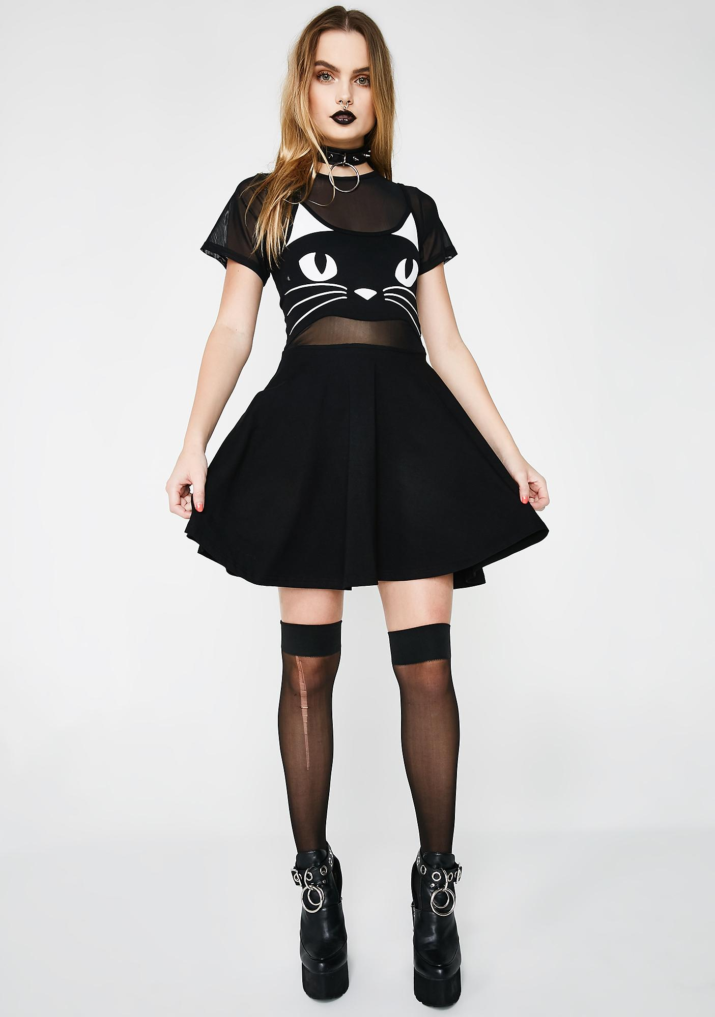 Fearless Illustration Shape Shifter Grunge Dress