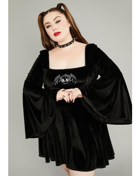 Her Burial Ground Velvet Mini Dress
