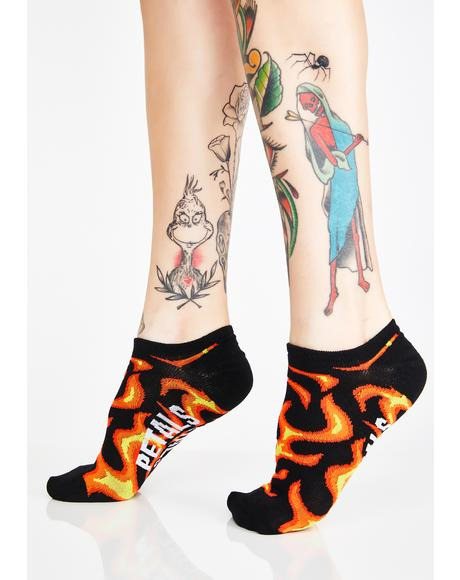 Flames N Barb 3-Pack Socks