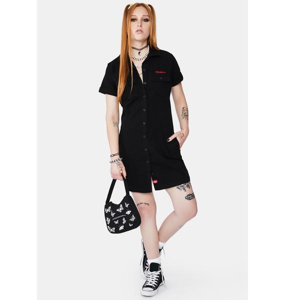 Dickies Girl Short Sleeve Worker Mini Dress