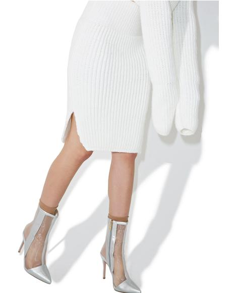 Creme Knit Skirt
