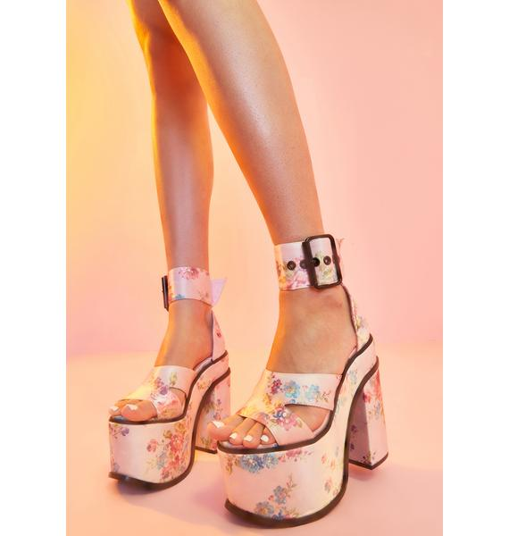 Sugar Thrillz Somebody's Angel Platform Heels
