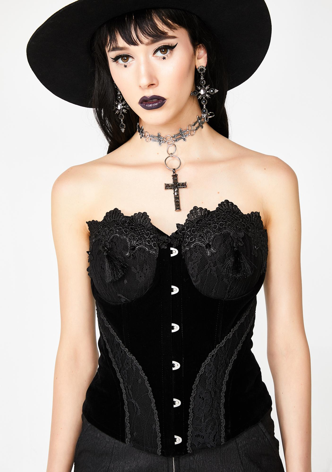 Punk Rave Gothic Gorgeous Lace Corset