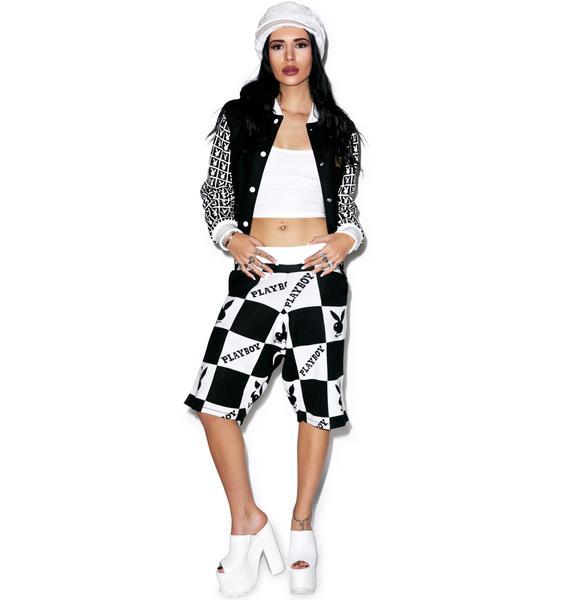 Joyrich X Playboy Checker Knit Shorts