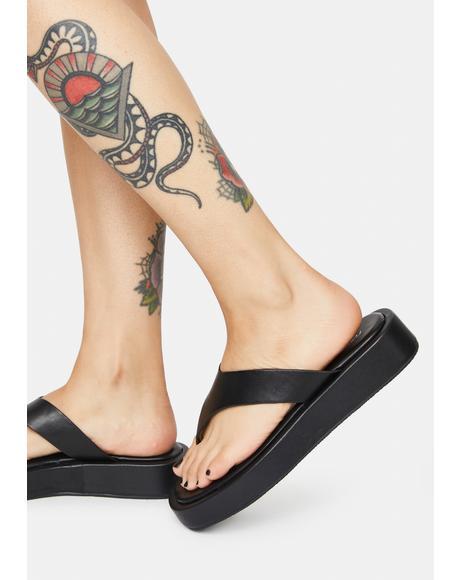 Voyage Platform Thong Sandals