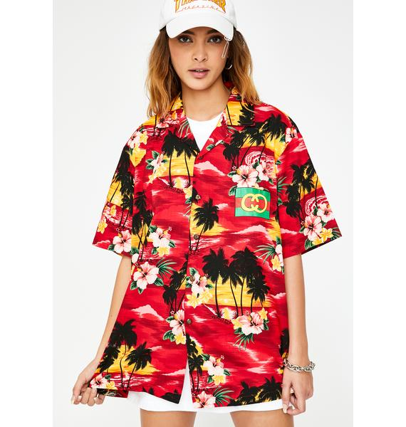 CHINATOWN MARKET Gucci Hawaii Button Down Tee