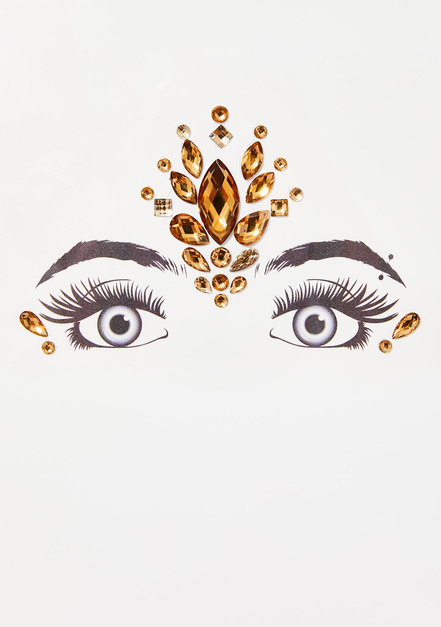 Golden Third Eye Awakening Face Gems