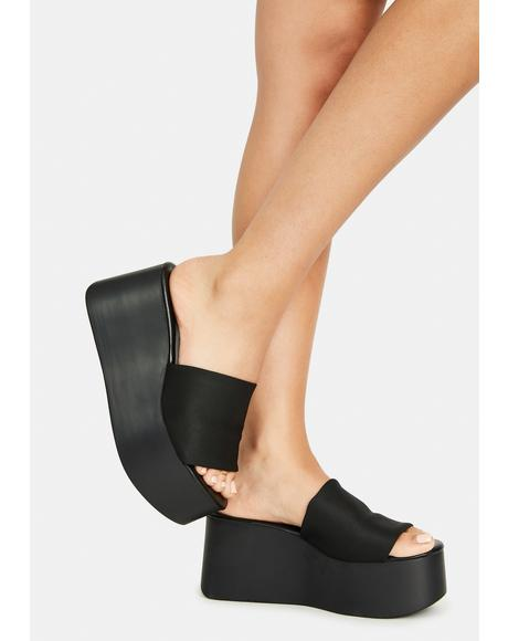Noir U Make It Better Platform Sandals