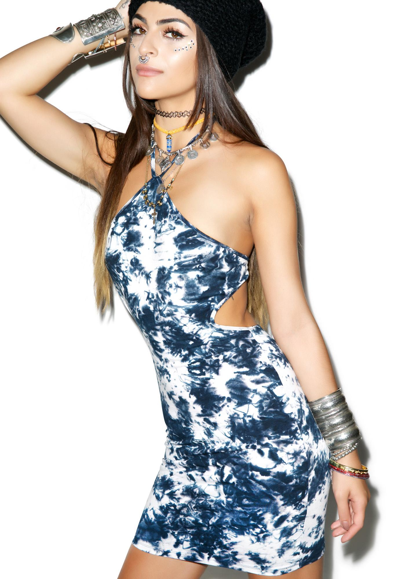 Motel Festival Fields Bodycon Dress