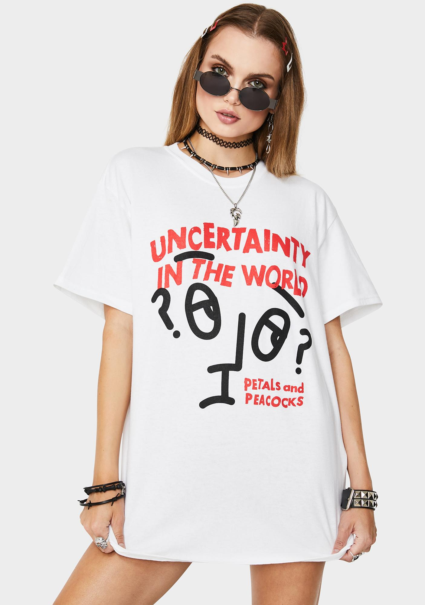Petals and Peacocks Uncertainty Graphic Tee