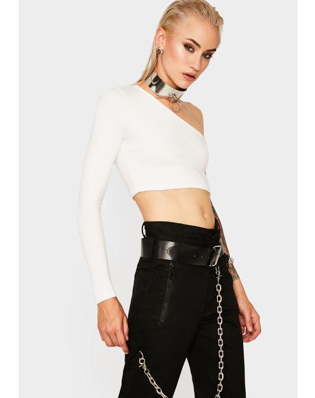 Virgo Long Sleeve Crop Top