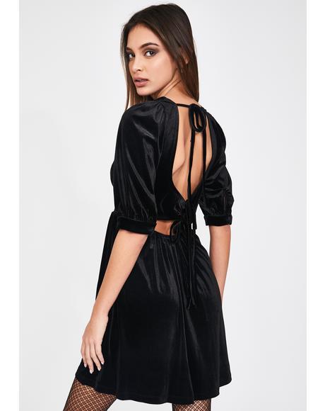 Velvet A Line Mini Dress