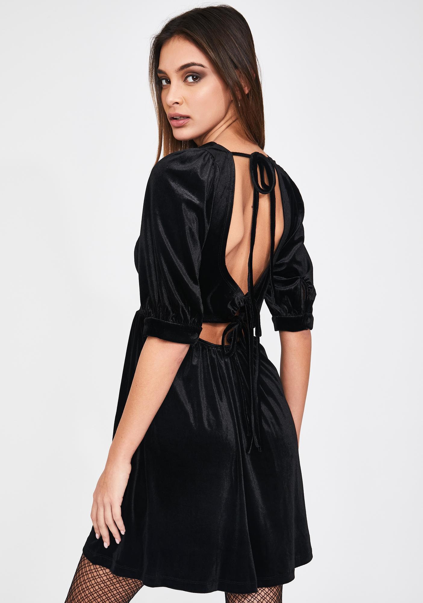 Glamorous Velvet A Line Mini Dress