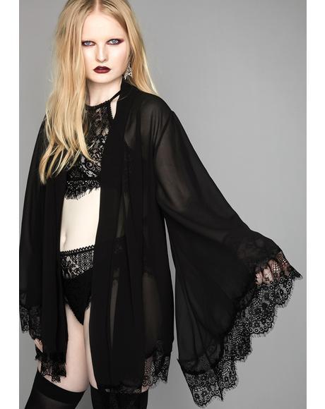 Sinful Recluse Chiffon Robe