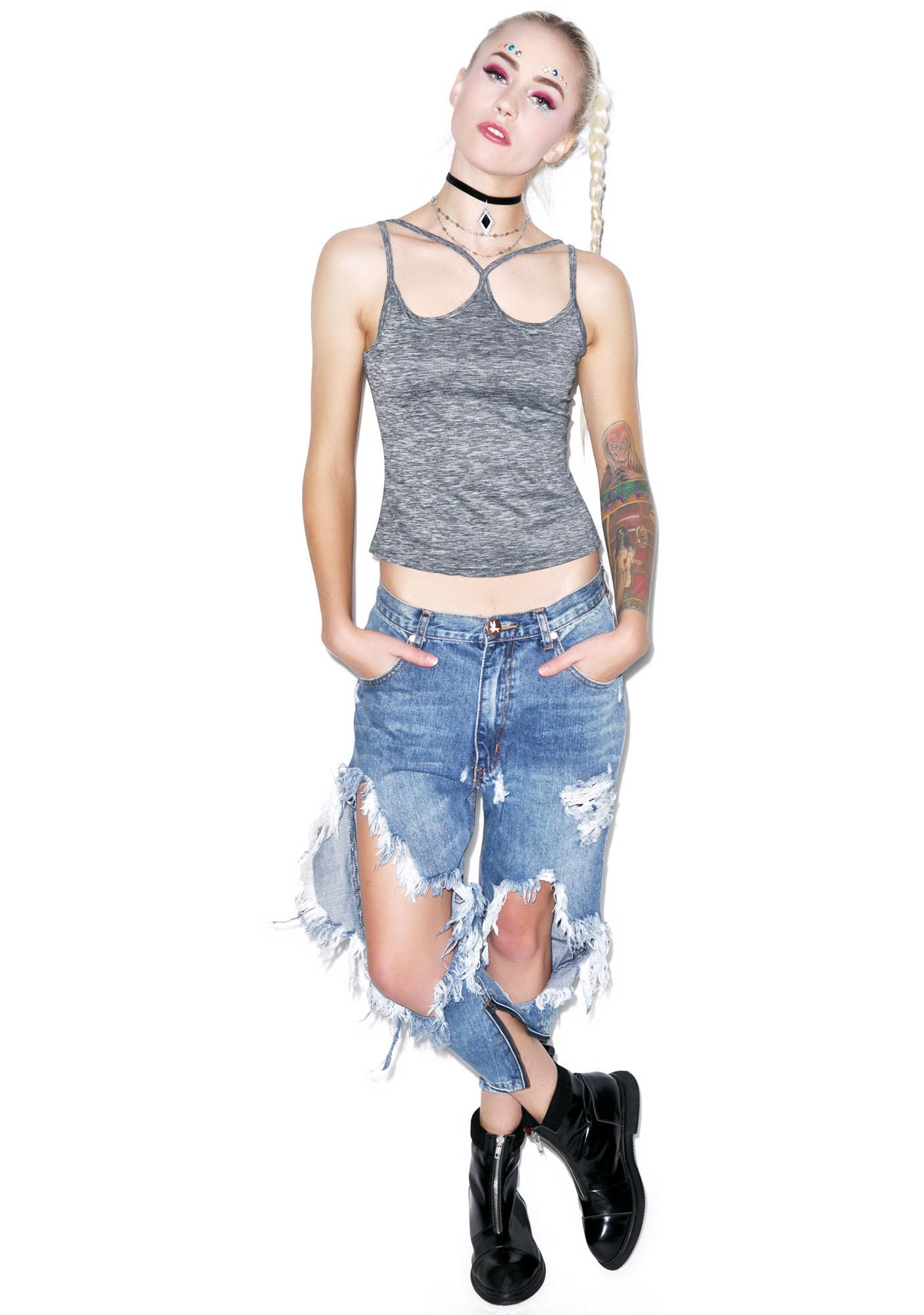 American Deadstock Fade To Grey Double Strap Cami