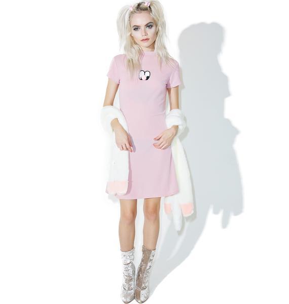 Lazy Oaf Pom Nose Sparkly Dress