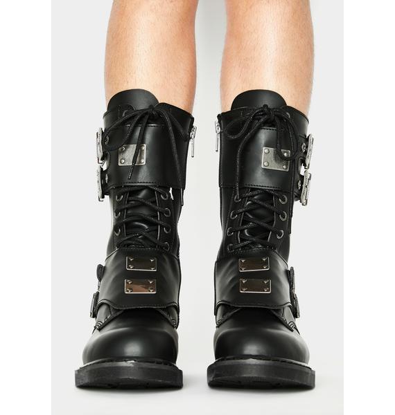 Demonia Terror Trooper Combat Boots