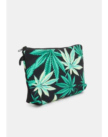 Lit Leaf Makeup Bag