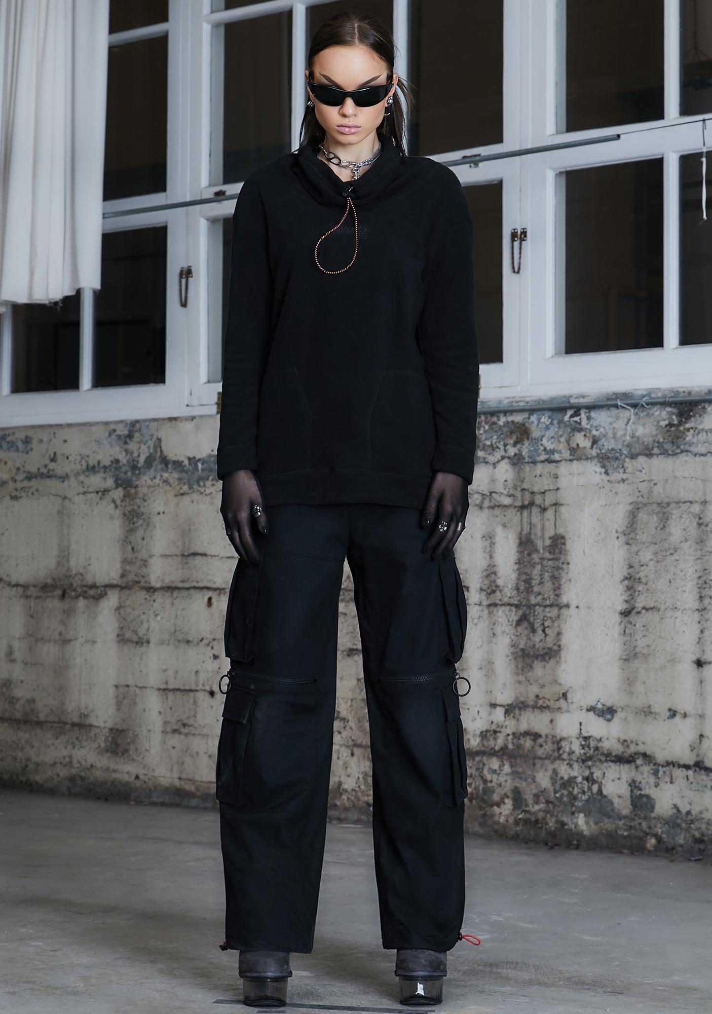 DARKER WAVS Kickdrum Fleece Long Sleeve Top