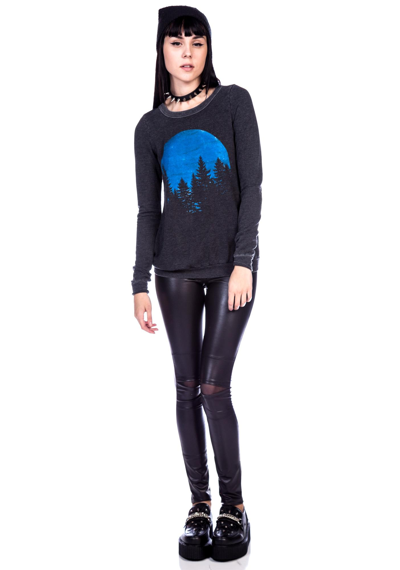 Chaser Blue Moon Cross Back Pullover Sweatshirt