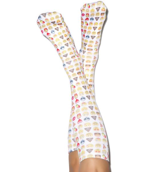 Emoji Knee High Socks