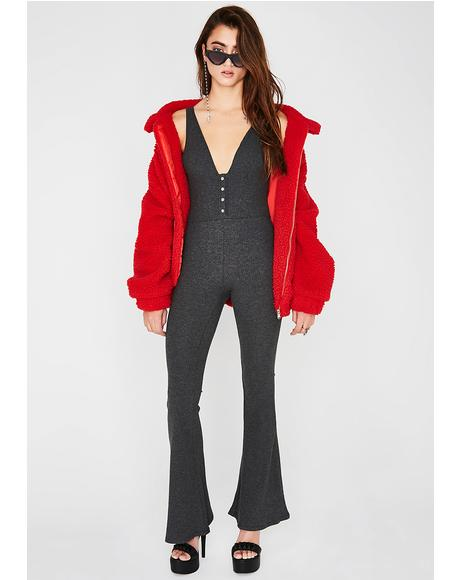 Itz A Vibe Knit Jumpsuit
